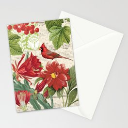 Red Bird Red Life Stationery Cards