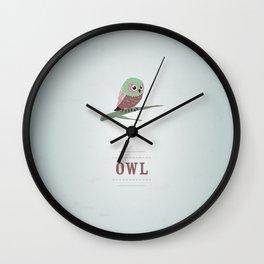My little Owl Wall Clock