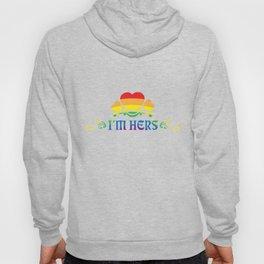 LGBT T-Shirt Funny I'm Here Lesbian Gay Pride Gift Hoody