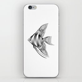Chantilly Lace Angel Fish iPhone Skin
