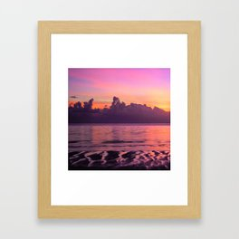 Spectacular South Pacific Sunset Near Huahini Island, Tahiti Framed Art Print