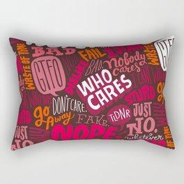Rude Pattern Rectangular Pillow