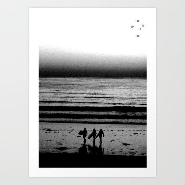 Surf Trio Art Print