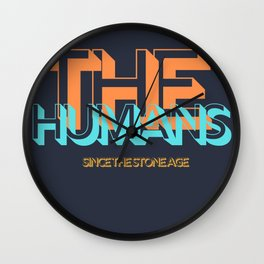 The Humans Since The Stone Age Wall Clock