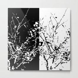 Yin Yang Bush Metal Print