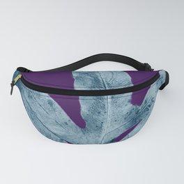 Midnight Sepia Navy Blue Purple Fern Fanny Pack
