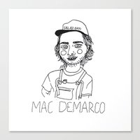 cactei Canvas Prints featuring Mac DeMarco by ☿ cactei ☿