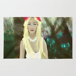 Blonde Girl in Brazil  Rug