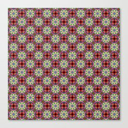 Swooping Lines Fabric Pattern Canvas Print