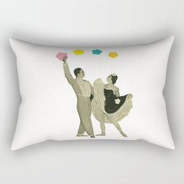 Throwing Shapes on the Dance Floor Rectangular Pillow
