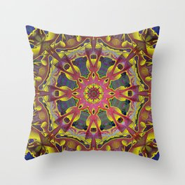 Yellow Gold From The Past Mandala Throw Pillow