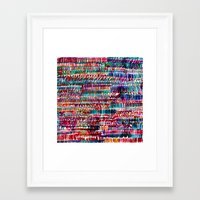 rain Framed Art Prints featuring Rain by Amy Sia