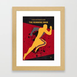 No425 My Running man minimal movie poster Framed Art Print