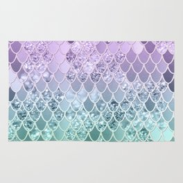 Mermaid Glitter Scales #1 #shiny #decor #art #society6 Rug