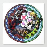 kingdom hearts Canvas Prints featuring Kingdom Hearts Vanitas & Ventus by Szilárd A Legjobb