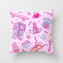Pink Punk Throw Pillow