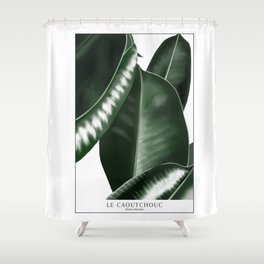 Big leaves white Shower Curtain