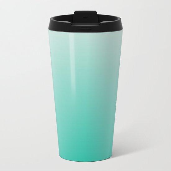 Mint Ombre Metal Travel Mug