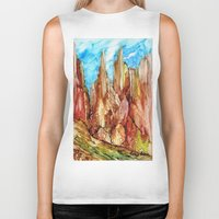 southwest Biker Tanks featuring Rocky Southwest by Rosie Brown