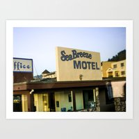 Sea Breeze Motel Art Print