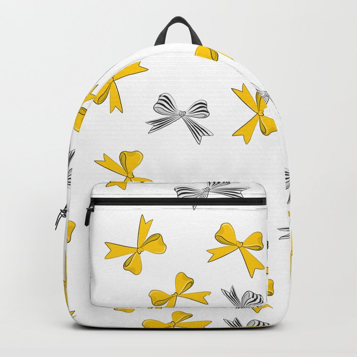 Yellow bow Backpack