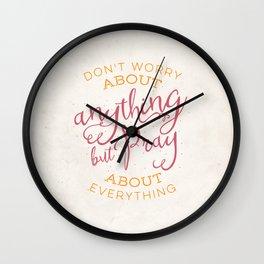 PRAYER OVER WORRY Wall Clock
