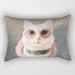 Fashion Portrait Cat Rectangular Pillow