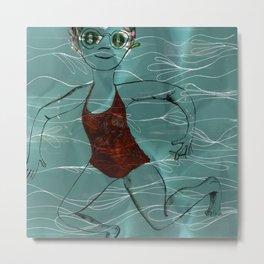Blue Swimmer no. 2 Metal Print