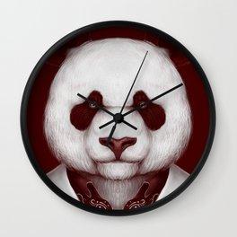 Red rum Panda Wall Clock