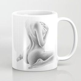 Naked Woman Figure Drawing | Nude Art | Sexy | Sexual Art | Butt and Back View Coffee Mug