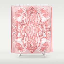 Garden 5 blush Shower Curtain