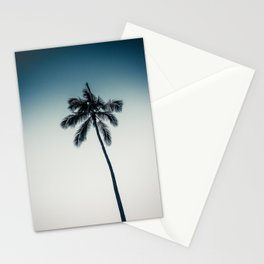 palm tree ver.darkgreen Stationery Cards