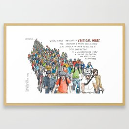 Critical Mass from Meanwhile in San Francisco Framed Art Print