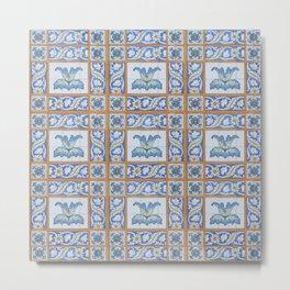 Vintage Art Nouveau Tiles Metal Print