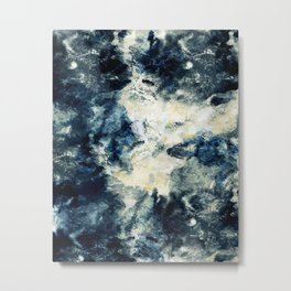 Drowning in Waves Texture Metal Print