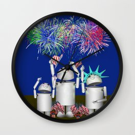 Robo-x9 & Family Celebrate the 4th of July Wall Clock