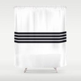 Classic Black Stripes Shower Curtain