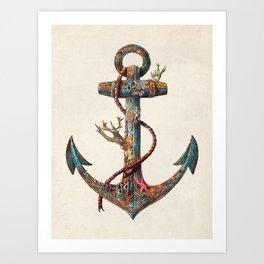 Lost at Sea - colour option Art Print