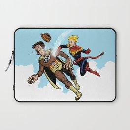 Superhero defeats the Groper Laptop Sleeve