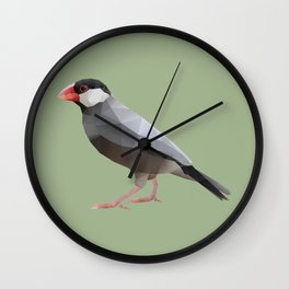 Java Sparrow polygon art Wall Clock