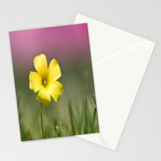 Yellow on Pink Stationery Cards