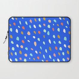 Blue Party Paint Dots Laptop Sleeve