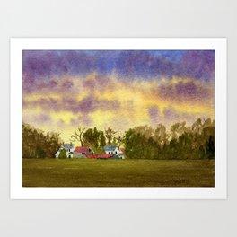 Windsor Sunset Art Print