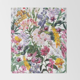 Vintage Garden X Throw Blanket