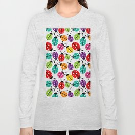 Lots of Crayon Colored Ladybugs Long Sleeve T-shirt