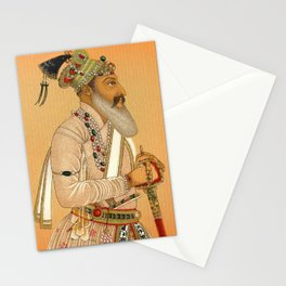 Indian Mughal with Sword Stationery Cards