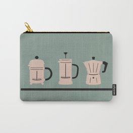Volturno & French Press Coffee #6 opaque aqua & vintage pink Carry-All Pouch