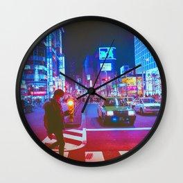 Japan Neon City Wall Clock