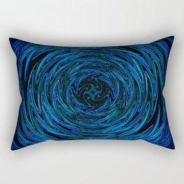 Spinning blue waves Rectangular Pillow