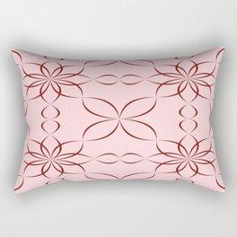Maroon calligraphic pattern Rectangular Pillow
